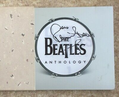 GENUINE SIGNED BEATLES ANTHOLOGY PROMO CD Pete Best AUTOGRAPHED • 30£