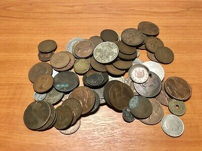 Job Lot Of Old Coins British & Foreign • 2.50£