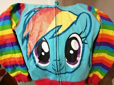 Kids Girls My Little Pony Hoodie Wings Jacket Rainbow Dash Sweater • 4£