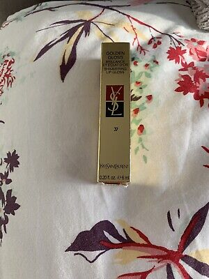 YSL Golden Gloss Lip Gloss No. 37 Brand New In Box Stunning Colour Xmas Gift • 15.50£