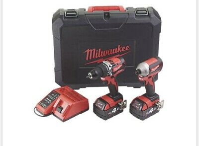 Milwaukee  Set 18V 2x 4 AH Brushless Comby Drill And Impact Driver • 269.99£