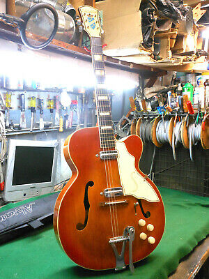 $ CDN1519.19 • Buy 1950s Silvertone H-53 Vintage Archtop Electric Guitar Harmony-Made, Speedbumps