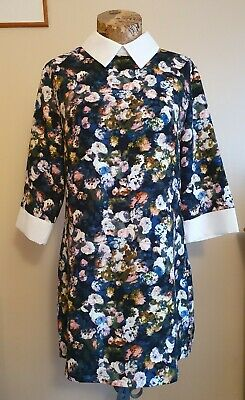 Hearts And Bows Floral Collar Dress Size 12UK Perfect Condition • 8.99£