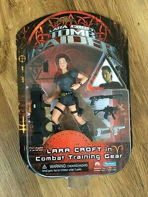 Lara Croft In Combat Training Gear Action Figure Playmates - New In Box • 4.30£