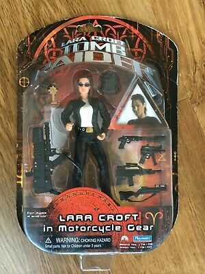 6  Lara Croft In Motorcycle Gear Tomb Raider Playmates Action Figure -New In Box • 13.50£