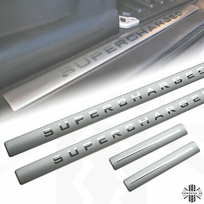 Door Step Tread Plate Sill Insert With 'SUPERCHARGED' For Range Rover Sport/HST  • 35£