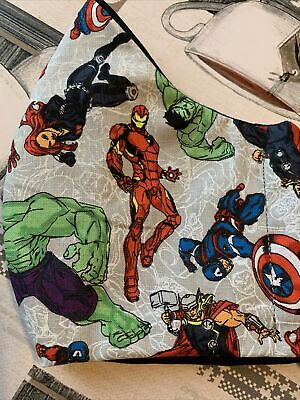 Adults Face Mask Marvel Characters Hulk Iron Man Thor Captain America • 4£