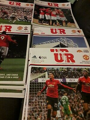 Manchester United Home Programmes Season 2017/18 • 6.99£