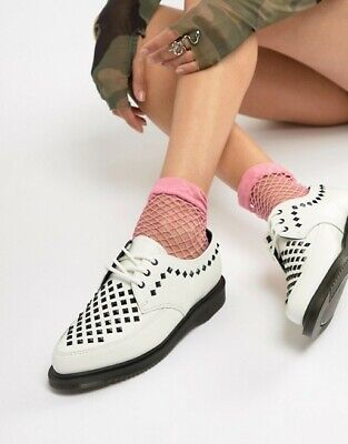 £53.17 • Buy Dr Martens Willis Creepers White Leather Oxford Studded Flats 9 US 7 UK 41 EUR