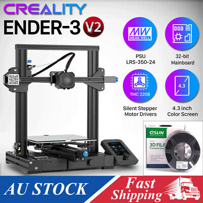 AU369.99 • Buy Creality 3D Ender-3 V2 3D Printer Kit All-Metal Structure 220*220*250mm+ PLA+ AU