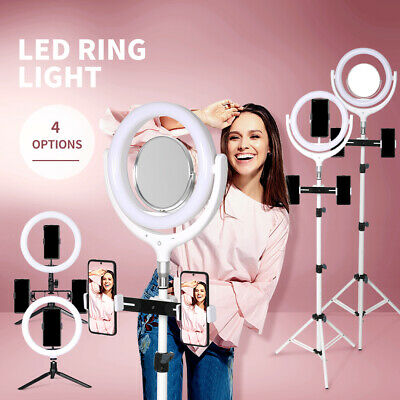 AU26.99 • Buy LED Ring Light With Tripod Stand Phone Holder Dimmable Studio Photo Selfie Lamp