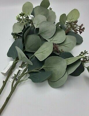 $16.95 • Buy Hearth & Hand With Magnolia Stem Eucalyptus Leaves 20in L Set Of 2