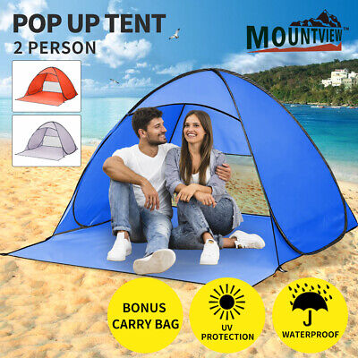 AU27.99 • Buy Mountview Pop Up Beach Tent Camping Portable Hiking Tents 2 Person Shelter