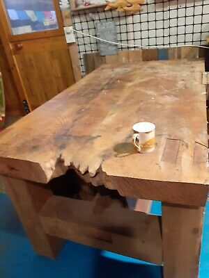 £1500 • Buy Bestoke Hand Crafted 5ft 5  Solid Elm Woodworking Bench With Vice Dining Table?