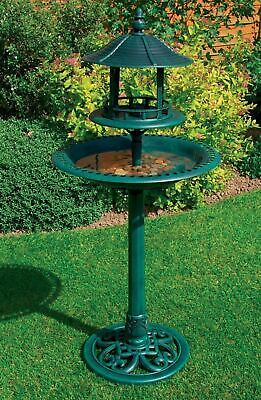 £22.95 • Buy Garden Ornamental Plastic Bird Feeding Food Bath Table With Shelter Outdoor New