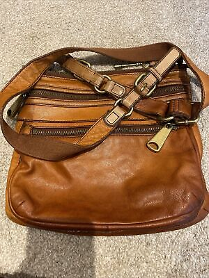 Fossil Tan Leather Bag • 4.70£