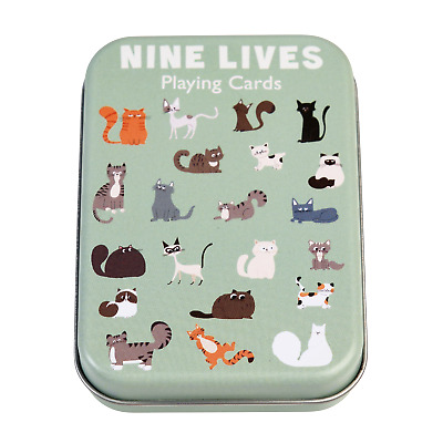 £3.95 • Buy Rex London CATS PLAYING CARDS IN A TIN