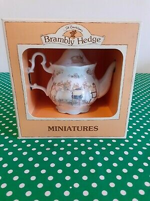 Teeny Brambly Hedge Royal Doulton Teapot In Box Immaculate With Leaflet 1980's • 15£
