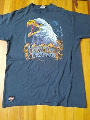 $ CDN20.89 • Buy Men's Vintage Harley Davidson Eagle Motorcycle Retro T-shirt XL Sturgis 1991