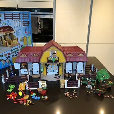 Boxed Complete Playmobil 5221 Large Horse Farm With Paddock With Instructions • 25£