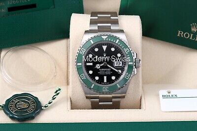 $ CDN26180.68 • Buy Rolex Submariner 41 Green Kermit W/ Stickers - Box/Papers/Card 126610LV