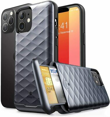 AU17.51 • Buy IPhone 12 PRO 6.1 Inch Wallet Case CLAYCO ARGOS 2020 Card Holder Bumper Cover