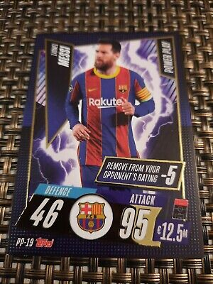 Lionel Messi Match Attax Power Play Card 20 21 Rare • 12.99£