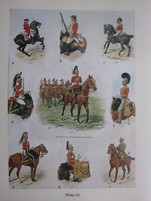 £32 • Buy MILITARY BRITISH ARMY CAVALRY UNIFORM PRINT 3rd PRINCE OF WALES'S DRAGOON GUARDS