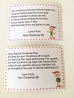 £2 • Buy Arrival And Goodbye Letter From Your Christmas Elf Stocking Filler Shelf