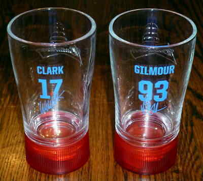 $ CDN30.10 • Buy Toronto Maple Leafs Doug Gilmour Wendel Clark Budweiser Red Light Glass Set Of 2