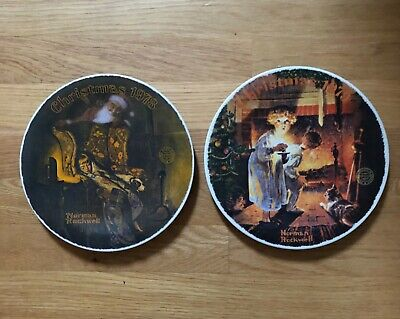 $ CDN8.42 • Buy Lot Of 2 Norman Rockwell Christmas Plates 1978 & 1979 ~ Knowles ~ Bradford