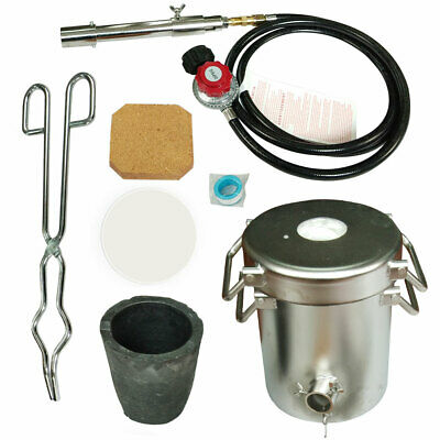 5KG Propane Melting Furnace Jewelry Casting Tool Kit Forge Copper Gold Silver UK • 196.99£