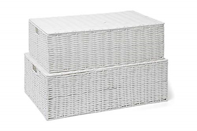 ARPAN Resin Woven Under Bed Storage Box, Chest Shelf Toy Clothes Basket With Lid • 42.54£