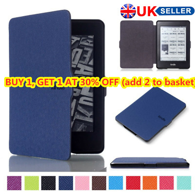 £6.26 • Buy For Amazon Kindle Paperwhite 2018 Slim Smart Leather Flip Magnetic Cover Case HE