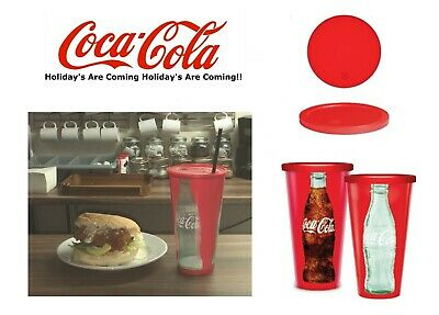 £8.99 • Buy Large Coca Cola Reusable 32 Oz Plastic Cups Holidays Are Coming Bulk Lots