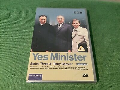 "Yes Minister Double DVD - New And Sealed - Series Three & ""Party Games"" • 2.95£"