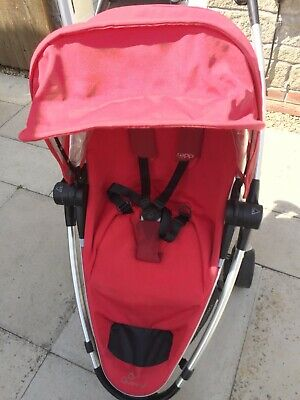 Quinny Zapp Xtra Rebel Red Travel System Single Seat Stroller • 30£