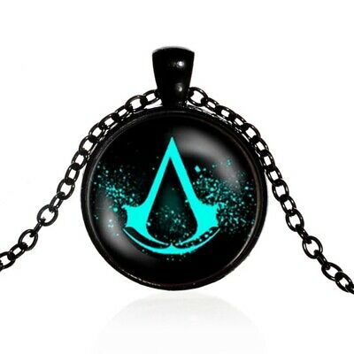 Assassins Creed Glass Domed Symbol Necklace Pendant Gift High Quality PS5 Xbox  • 4.99£