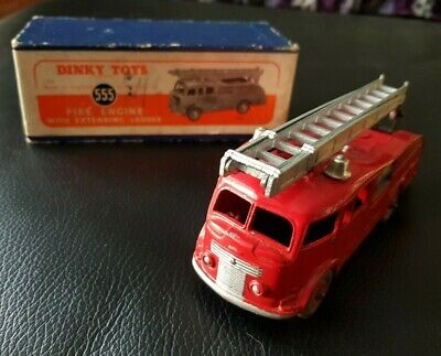 Vintage Dinky 555  - Fire Engine With Extending Ladder In Original Box • 39.95£