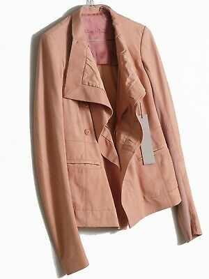 Rick Owens Rose Real Leather Suede Jacket With Pockets In S, IT 40, UK 8 • 122£