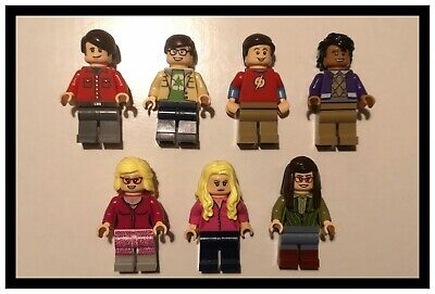 GENUINE LEGO Official Big Bang Theory Minifigures From 21302 Full Set X7 Figures • 52£