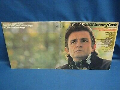 Record Album Johnny Cash The World Of 7641 • 3.89£