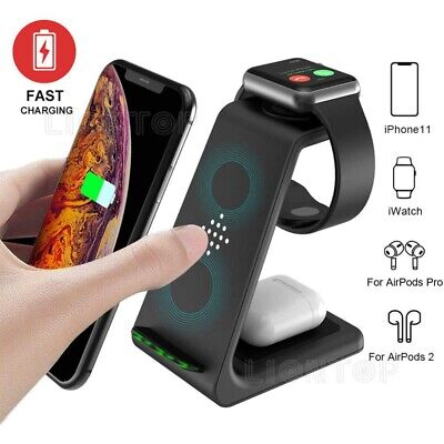 $ CDN39.09 • Buy 3 In 1 Charging Station Dock Charger Stand For Apple Watch Serie Air Pods IPhone
