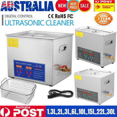 AU113.85 • Buy Digital Ultrasonic Cleaner Industry Stainless Bath Cleaning Tank Timer Heater AU