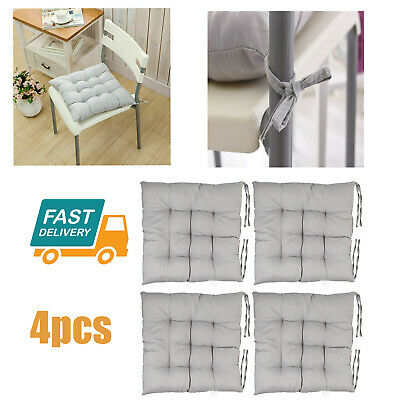 AU29.98 • Buy 4X Chair Seat Pad Cushion Soft Comfort Square Thicker Dining Room Garden Office
