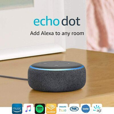 AU62.99 • Buy Amazon Echo Dot 3rd Generation Smart Assistant Speaker Alexa ( Charcoal Fabric)