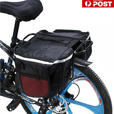 AU16.27 • Buy Cycling Bicycle Bike Rack Back Rear Seat Tail Carrier Trunk Double Pannier Bag
