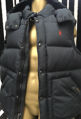 Polo Ralph Lauren Elmwood Gilet Jacket Polo Black Down Quilted Sz XL Rrp £299 • 147£