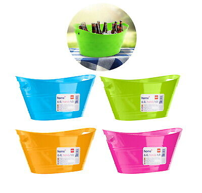 6.4L Plastic Ice Bucket Cooler Bowl Flex Party BBQ Summer Party Tub Wine Beer  • 5.45£