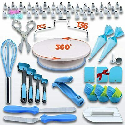£21.33 • Buy Cake Decorating Kit Baking Tool Baker Supplies With Rotating Round Turntable New